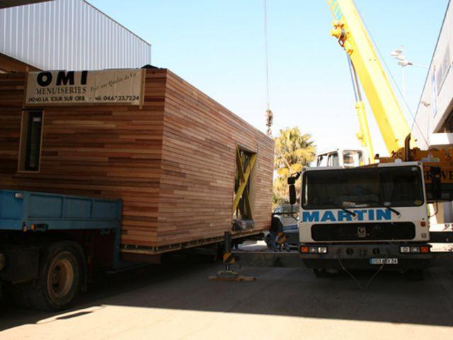 Structure bois - maison écologique à modules