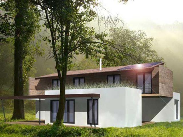 Energies renouvelables - maison écologique à modules