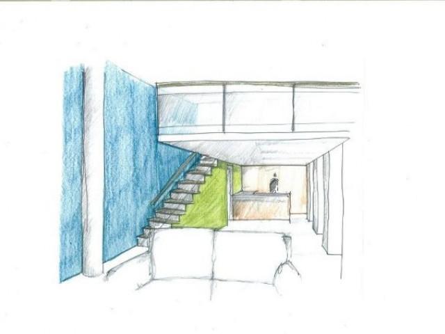 Aménagement possible du rez-de-chaussée d'un loft - montchal