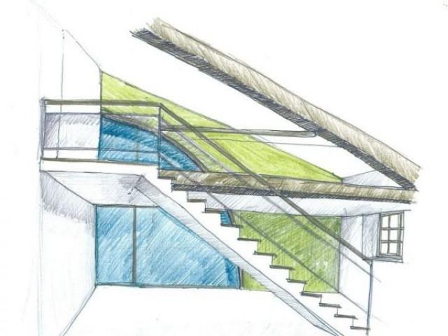 Aménagement possible du 1er étage d'un loft - montchal