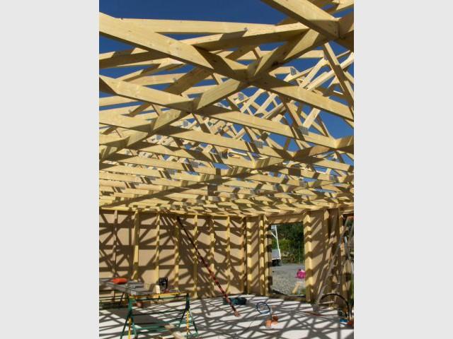 L'ossature du toit