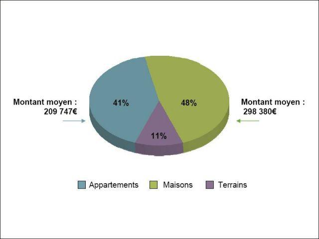 Répartition du nombre de transactions selon le bien acheté - acquéreurs étrangers