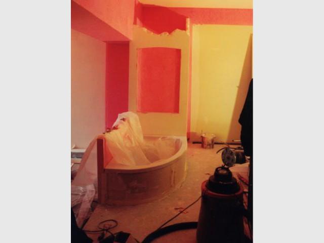 baignoire en chantier
