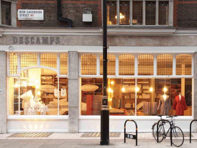 La boutique Descamps à Londres