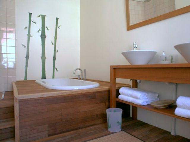salle de bain chambre indochine