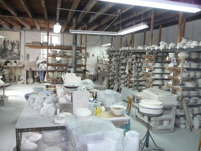 Atelier principal - Faïencerie Bourg-Joly - Malicorne