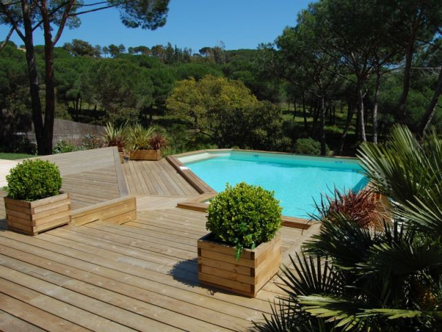 piscine Blue Wood