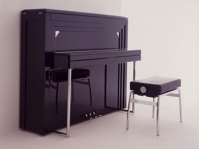 Le piano noir très design selon Peter Maly - pianos design