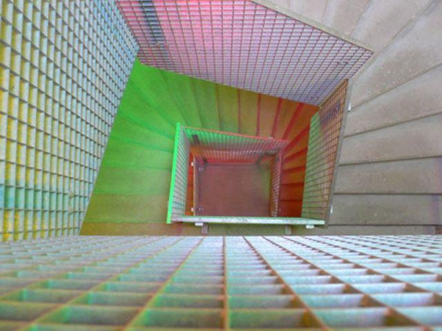 Escalier coloré