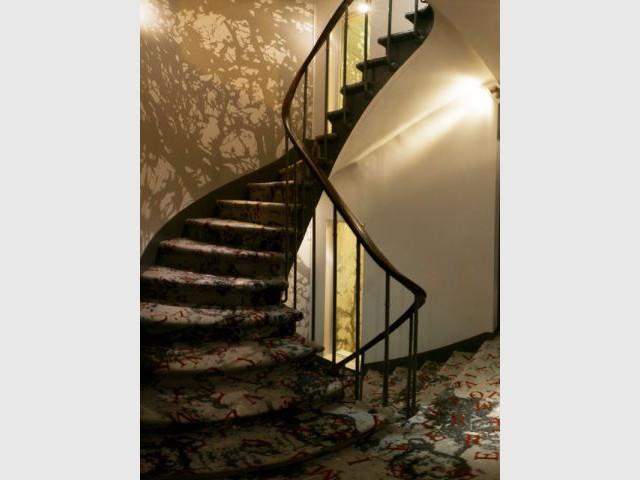 Escalier hôtel Apostrophe