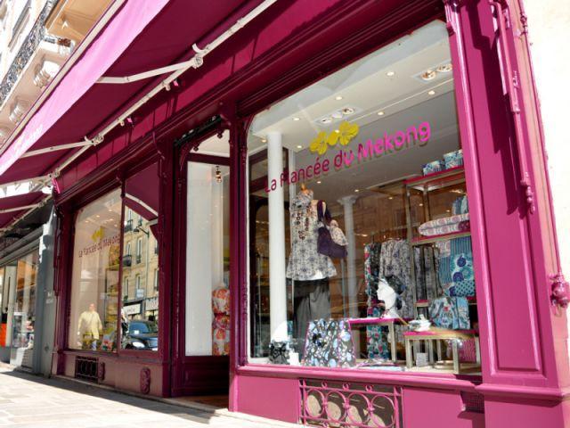 La devanture de la boutique - boutique la fiancée du mékong
