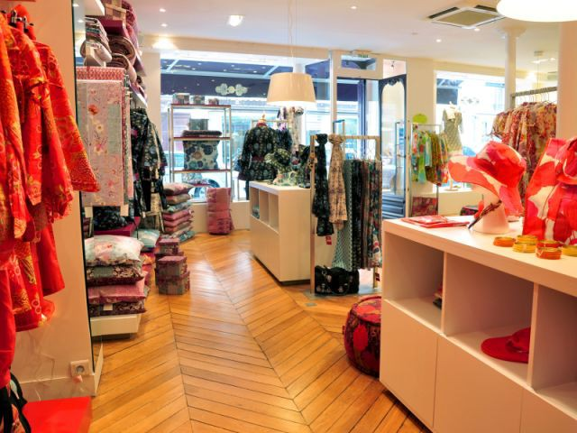 Un espace coloré - boutique la fiancée du mékong