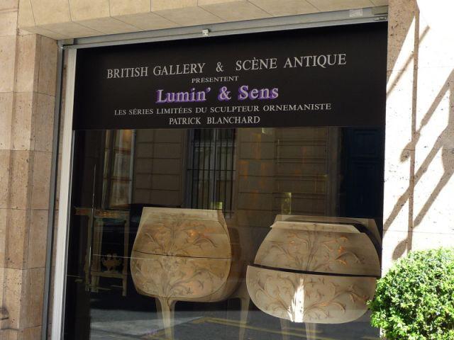 devanture de la galerie British gallery