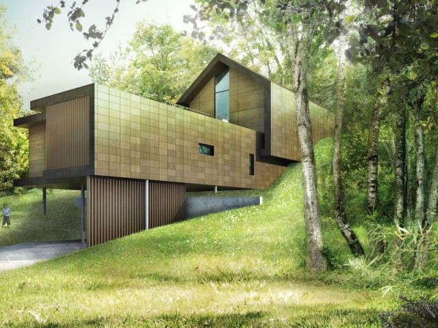 Palmar s des lauriers bois 2009 15 projets bois d couvrir for Architecture moderne maison individuelle