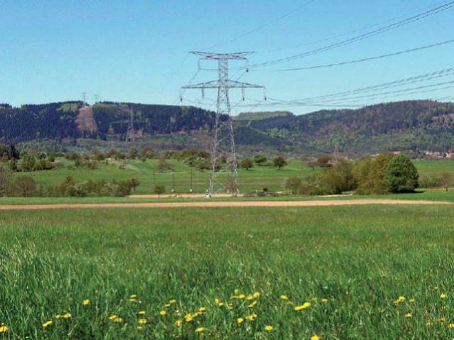 ligne à haute tension electricité