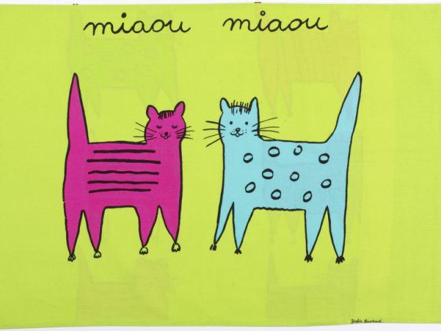 """Textile """"Miaou Miaou"""" - Zofia Rostad"""