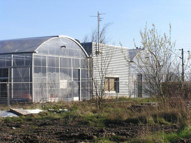 maison conteneurs serres toit fermé