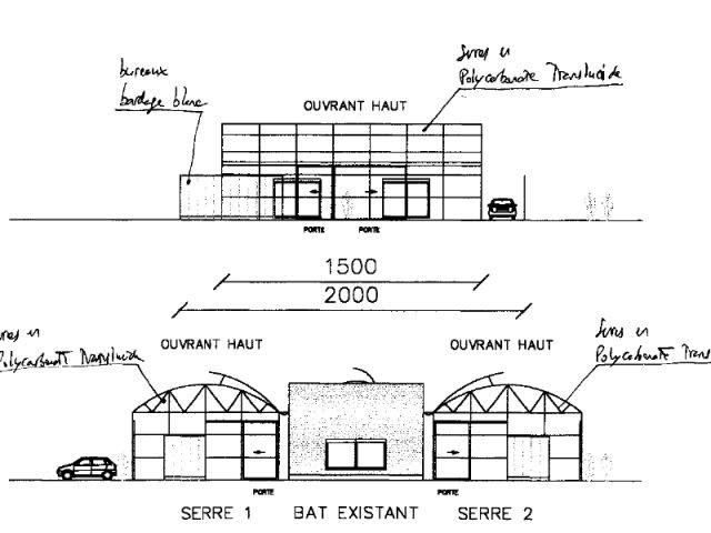 plan maison conteneurs et serres