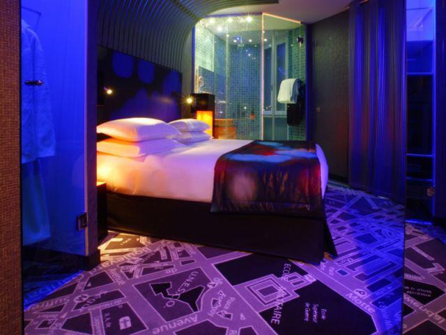 chambre bleue du Sublim Eiffel