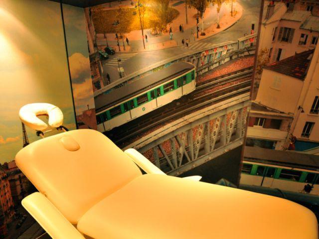 cabine de soin massage du Sublim Eiffel