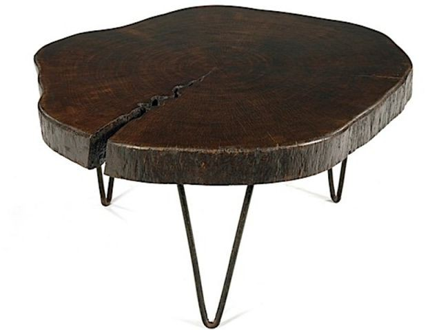 Design suisse aux ench res - Table basse tronc d arbre ...