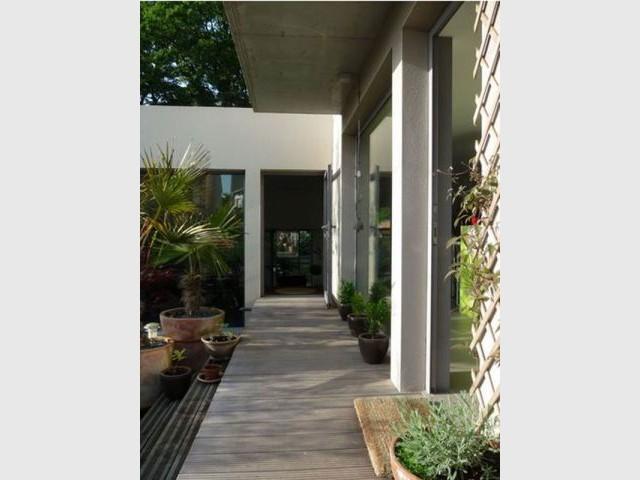 Patio - Maison d'architecte Isabelle Mahe
