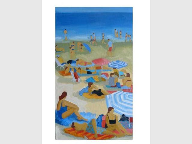 la plage selon Dorothée Ponroy