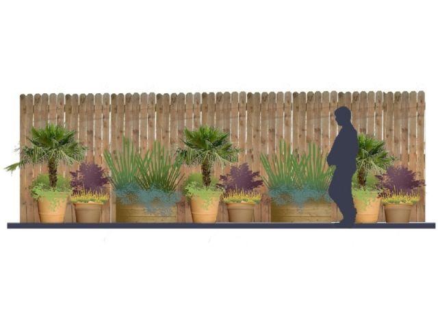 """""""Arroser le moins possible"""" - concept de terrasse"""
