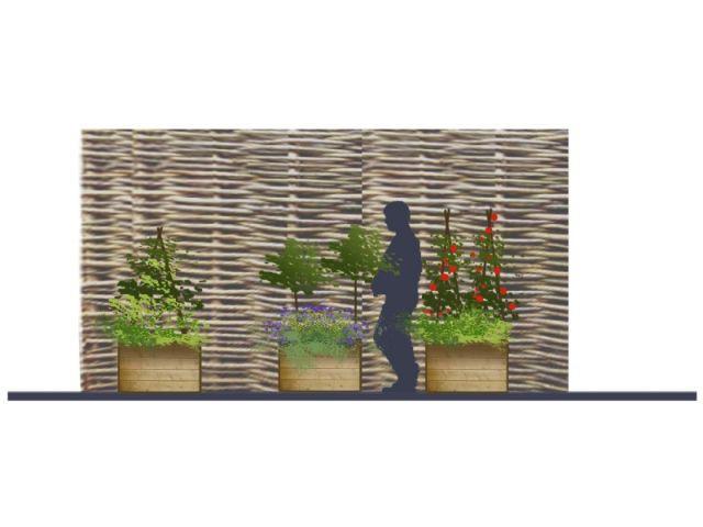 """""""Un potager sur le balcon"""" - concept de terrasse"""