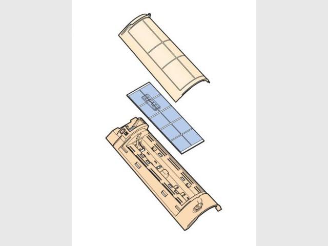 Schéma d'une tuile solaire - tuiles solaires TechTile