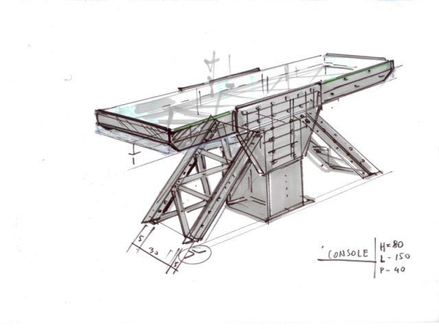 """dessin Console """"à la manière d'Eiffel"""""""