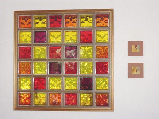 tableau de briques de verre