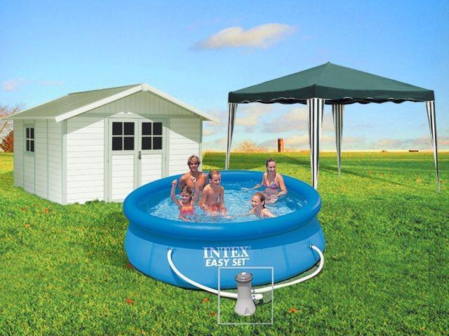 montage piscine/tonnelle/abri de jardin