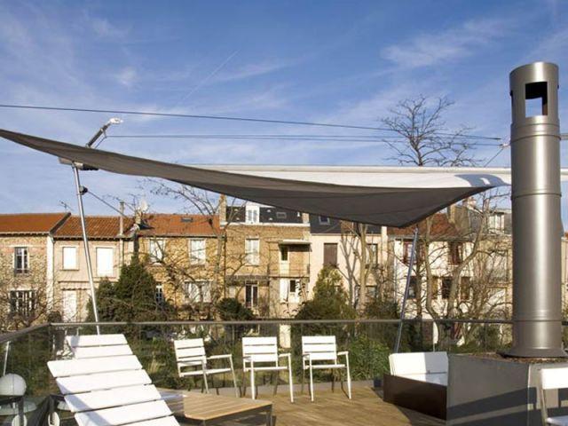 Le toit-terrasse - maison à paris