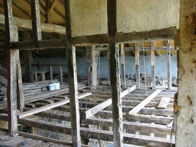 L'état de la charpente avant les travaux - maison basque