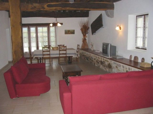 Le salon arrière - maison basque