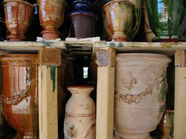 Sortis du four... - vase d'anduze