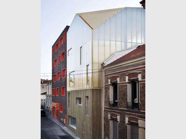 Vue de la rue - Maison trapèze