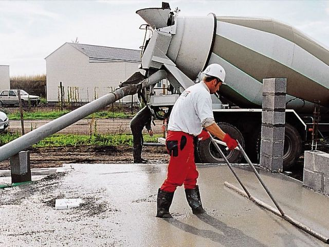 Travail du béton - beton