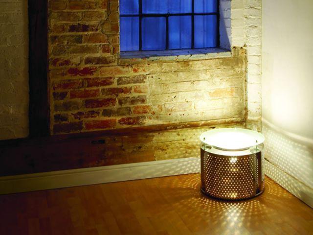 Une lampe-tambour