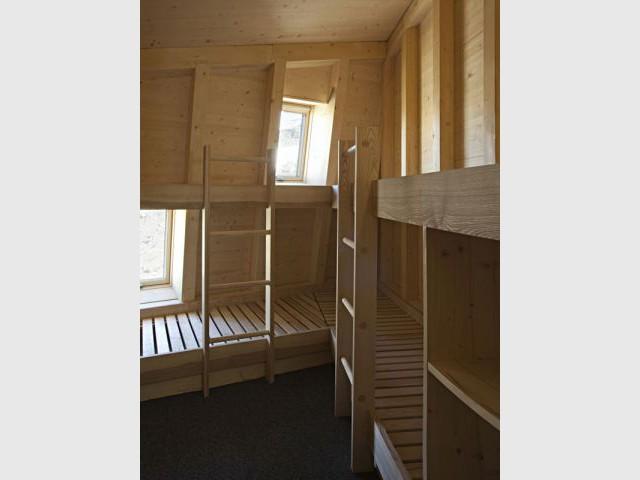 cabane mont rose chambre