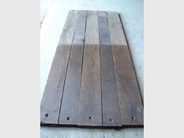 Un plancher - bois wagon