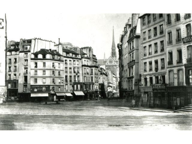 Paris centre Maubert -Monge-Saint-Séverin - Paris photographié au temps d'Haussmann