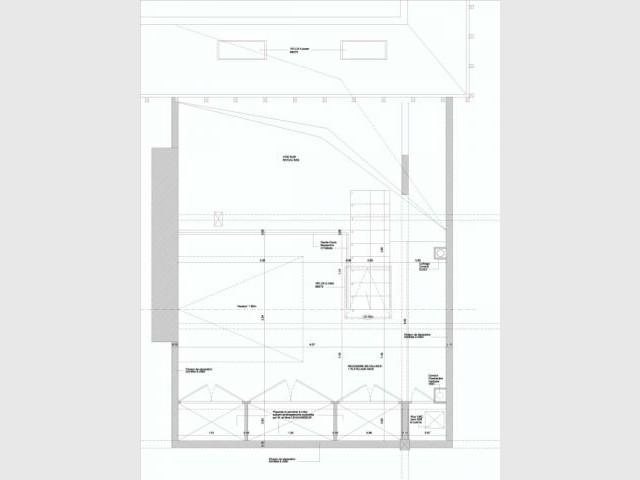 Plan niveau mezzanine - Alexandre Hugonnard - Atelier d'Architectures