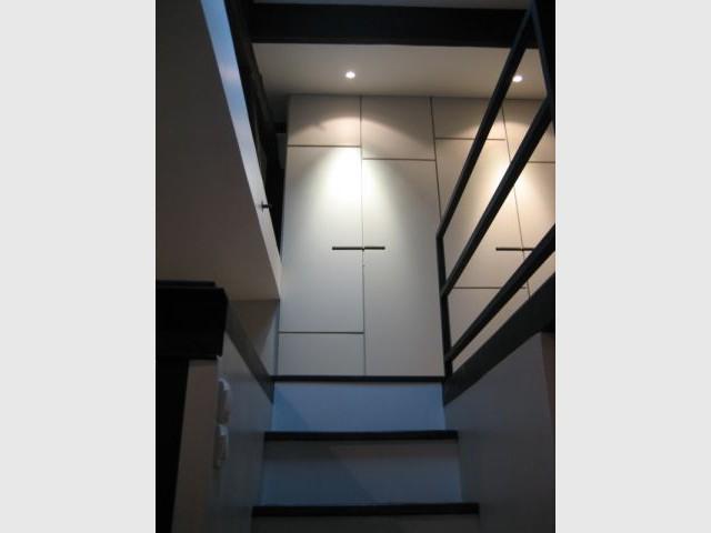 Accès mezzanine - Alexandre Hugonnard - Atelier d'Architectures