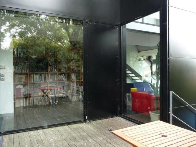 Entrée - Maison d'architecte verre et métal