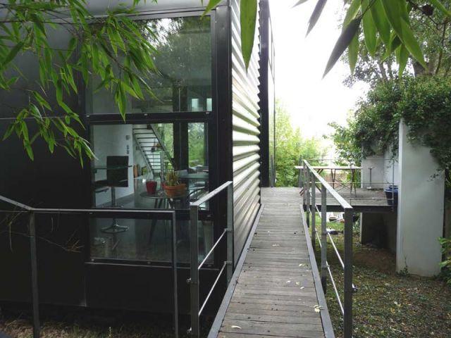Cuisine - Maison d'architecte verre et métal