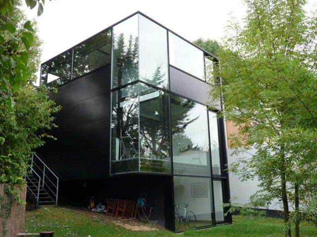 Maison - Maison d'architecte verre et métal