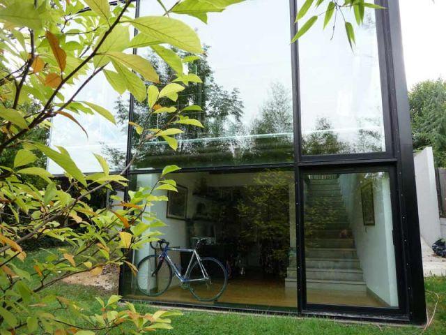 Béton - Maison d'architecte verre et métal