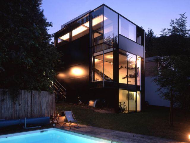 Maison d'architecte verre et métal